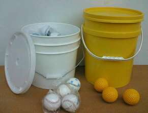Baseball Pails, Golf Pails, Tennis Pails