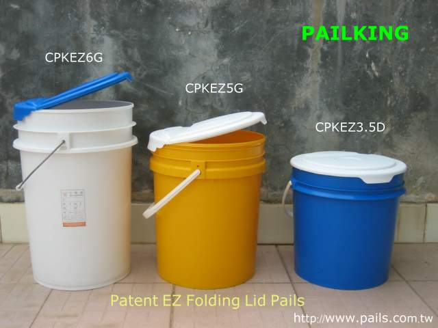 *Easy Folding Lid Pail, Plastic buckets, containers